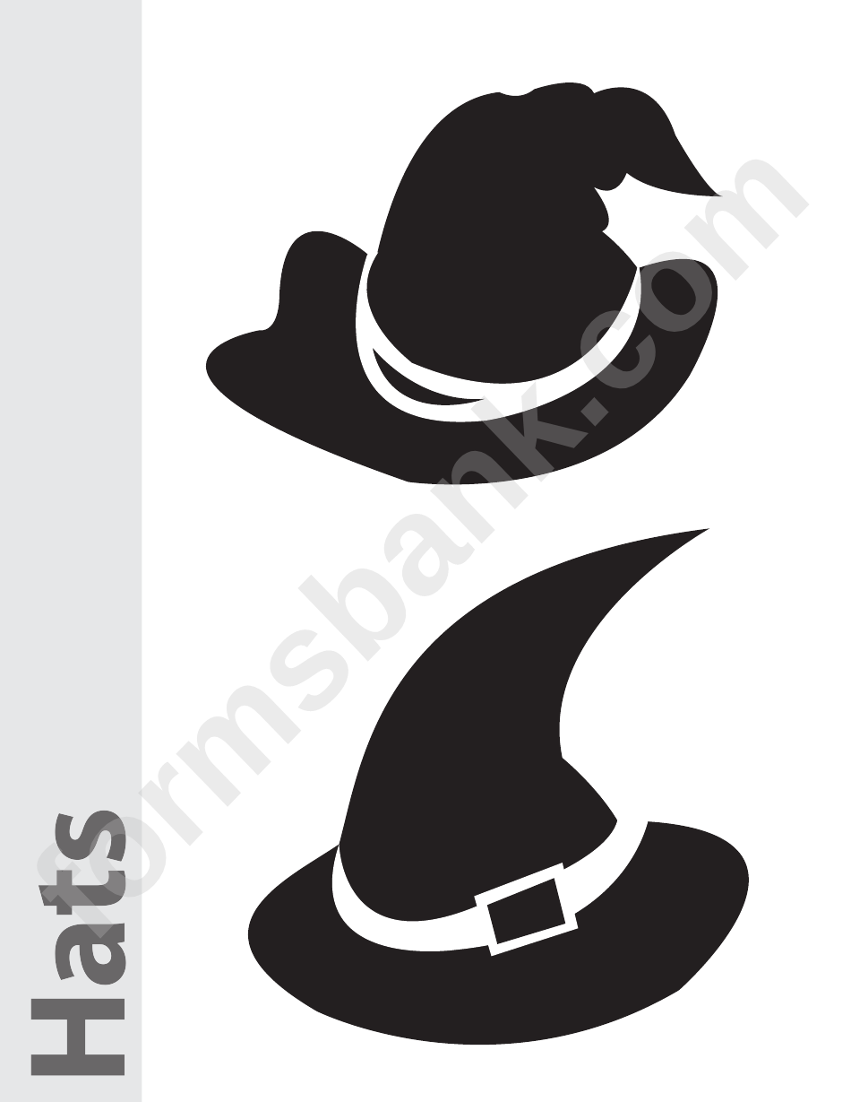 graphic relating to Witches Hat Template Printable referred to as Witch Hat Template Towards Print - menu template design and style