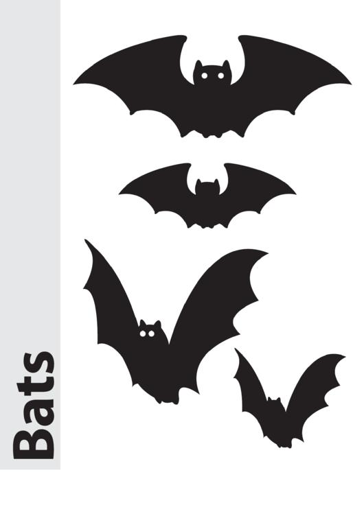 Bats Pumpkin Carving Pattern Template