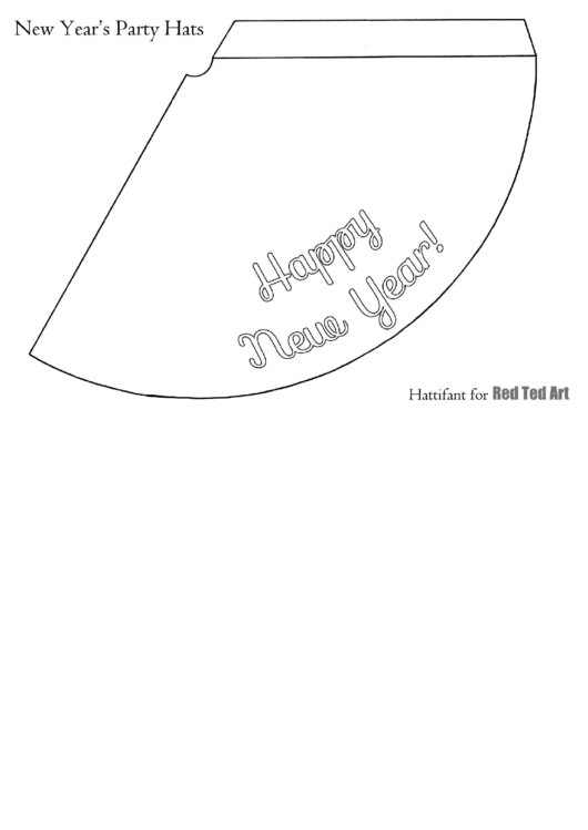 White Happy New Year Hat Template