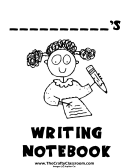Writing Notebook Cover Page Template For Girls