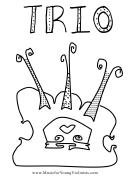 Violin Trio Music Coloring Sheet