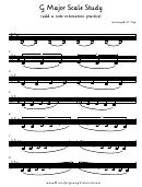 G Major Scale Study Violin Sheet Music