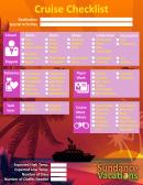 Cruise Vacation Checklist
