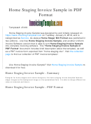 Home Staging Invoice Sample Template