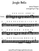 Jingle Bells By James Pierpont Violin Sheet Music