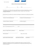 Form Mv-16 - Affidavit To Certify Immediate Family Relationship