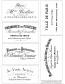 French Typography Label Templates