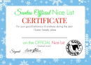 Santa's Official Nice List Certificate - Blue