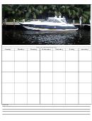 Boat Weekly Calendar Template