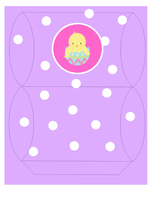 Easter Basket Template - Purple With Chick