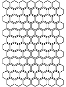 1 Inch Hexagon Template