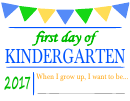 First Day Of - Welcome Sign Template - Green/blue