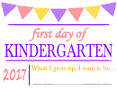 First Day Of - Welcome Sign Template - Pink/purple