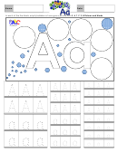 Letter A Tracing Template