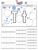 Letter T Tracing Template