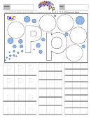 Letter P Tracing Template