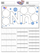 Letter N Tracing Template