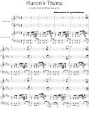 Nobuo Uematsu - Auron's Theme From Final Fantasy X Video Game Sheet Music