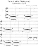 Nobuo Uematsu - Vamo' Alla Flamenco From Final Fantasy Ix Video Game Sheet Music