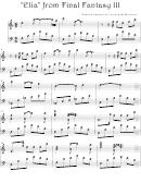 Nobuo Uematsu - Elia From Final Fantasy Iii Video Game Sheet Music