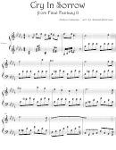 Nobuo Uematsu - Cry In Sorrow From Final Fantasy Ii Video Game Sheet Music