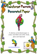 Rainforest Parrots Decorated Paper Template