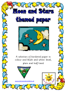 Moon And Stars Themed Paper Template