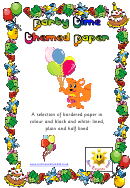 Party Time Themed Paper Template