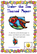 Under The Sea Themed Paper Template