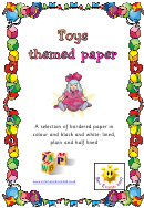 Toys Themed Paper Template