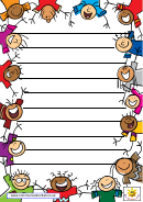 Funny Bordered Lined Paper For Kids