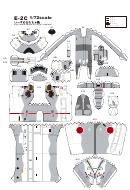 E-2c Paper Model Template