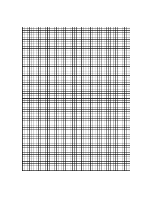 10 Lines/inch Graph Paper With Centered X-Y Axis Printable pdf