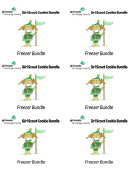 Girl Scout Cookie Bundle - Freezer Label