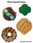 Girl Scout Photo Booth Props Templates