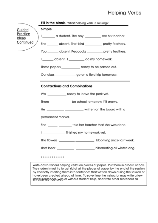 Top 25 English Verbs Worksheet Templates Free To Download In PDF Format