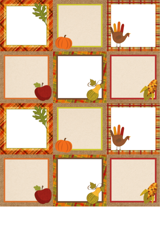 Thanksgiving Tags Templates
