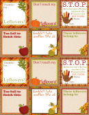 Thanksgiving Tags Templaes