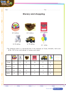 Money And Shopping Worksheet Template