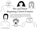 Mix And Match Beginning Cartoon Features Cheat Sheet