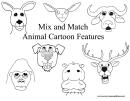 Mix And Match Animal Cartoon Features Cheat Sheet