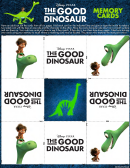 The Good Dinosaur Game Card Template