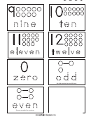 Number Cards Tracing Sheet