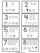 1-2 Number Cards Tracing Sheet
