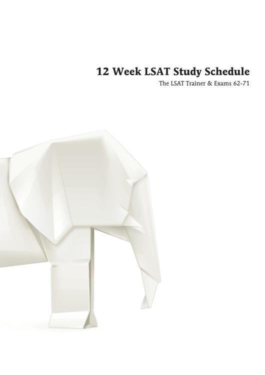 12 Week Study Schedule Template
