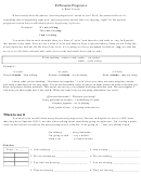 El Presente Progresivo Brief Lesson Spanish Worksheet Template