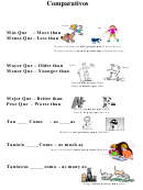 Comparativos & Superlativos Spanish Worksheet Template