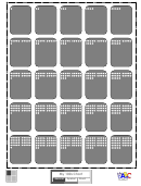 1-100 Amount Card Template