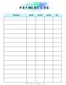 Monthly Bills Payment Log Template Set