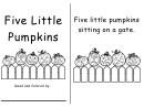 Five Little Pumpkin Read And Color Activity Sheet Set